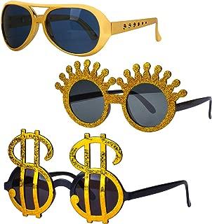 Beelittle Costume Glasses Cosplay Funny Novelty Party Sunglasses Luau Tropical Hawaiian Eyewear for Kids Adults