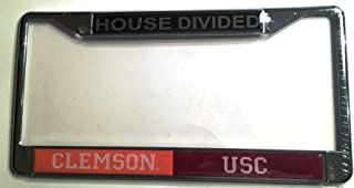 Clemson Tigers - USC South Carolina Gamecocks House Divided Car Tag License Frame