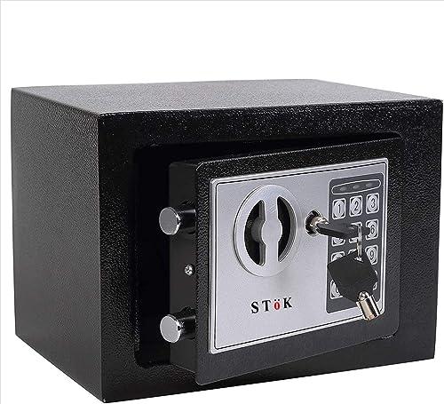 SToK ST ES1723 Small Electronic Safe Safe Locker Safe Box Electronic Safe Lockers for Home and Office Size 23X17X17 cm Black