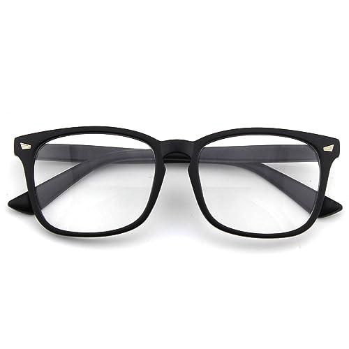 b64dbf28ddbb CGID CN82 Large Oversized Bold Frame UV 400 Clear Lens Horn Rimmed Glasses
