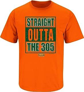 Smack Apparel Miami Football Fans. Straight Outta The 305 Orange T Shirt (Sm-5X)