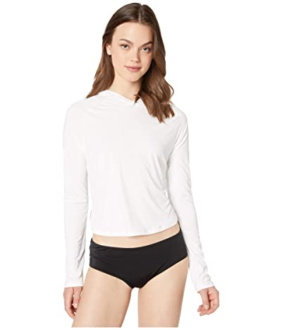 Hurley Hybrid One and Only Long Sleeve Surf Top (White) Women