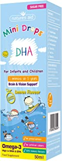 Natures Aid 50 ml DHA Omega-3 Drops for Infants and Children