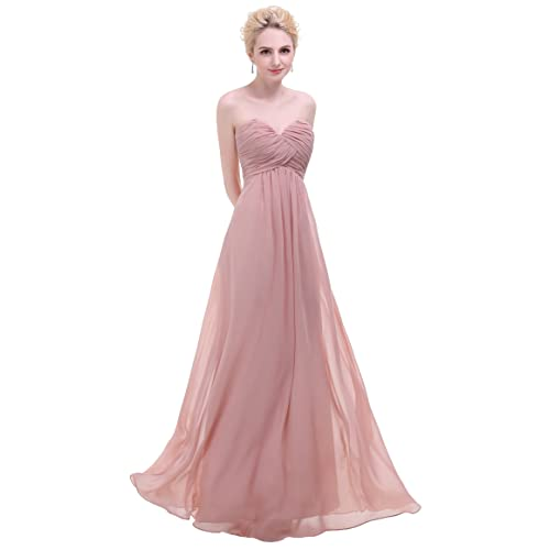 c2f67727442 esvor Sweetheart Chiffon Party Prom Bridesmaid Dress Long Evening Gown