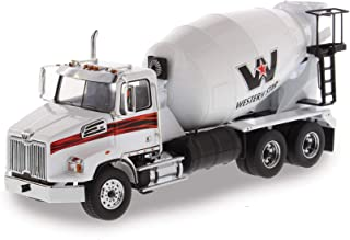Western Star 4700 SB Concrete Mixer Truck White 1/50 Diecast Model by Diecast Masters 71035