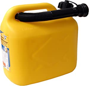 Fuel can liters  PVC yellow  certification
