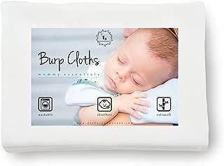 DorDor & GorGor XL Burp Cloth, Bamboo Viscose, White, 19 X 26, 4 Pack