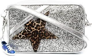 Golden Goose Luxury Fashion Damen GWA00101A00018380742 Silber Leder Schultertasche | Jahreszeit Permanent