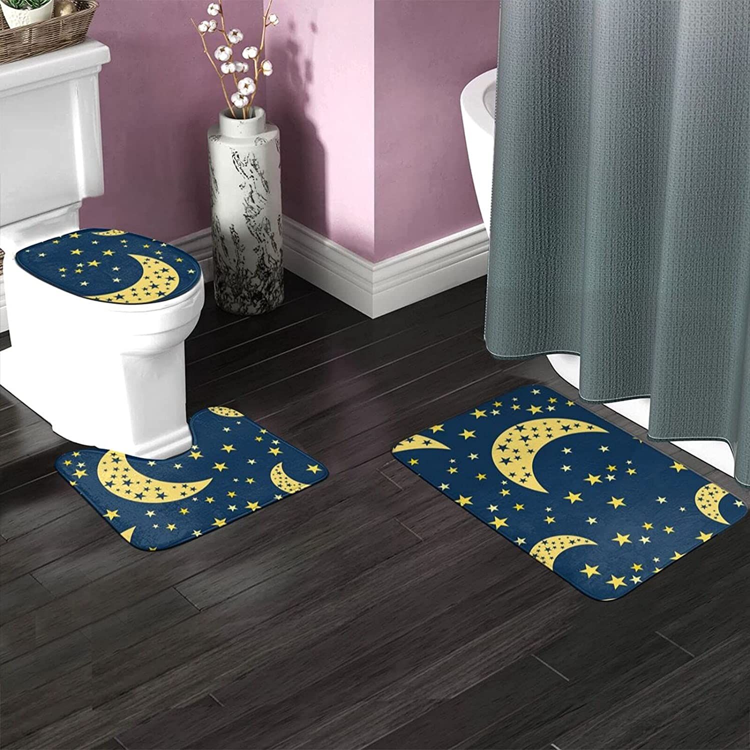 Starry 2021new shipping free shipping Universe Space Printbathroom Carpet Accessories Bathroom Spring new work one after another