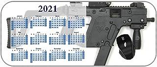 Colorful Year 2021 Calendar Mouse Pad Weapon Gun Gun Machinery 2021 Calendar Stitched Edges Thin Pad