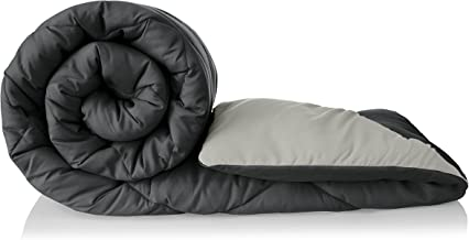 Amazon Brand - Solimo Microfibre Reversible Comforter, Double (Pale Grey & Steel Grey, 200 GSM)
