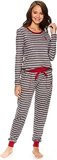 Womens Long Sleeve Shirt with Cuffed Pajama Pants Sleep...