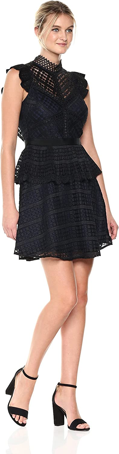 Adelyn Rae Womens Maeve Woven Lace Fit & Flare Dress