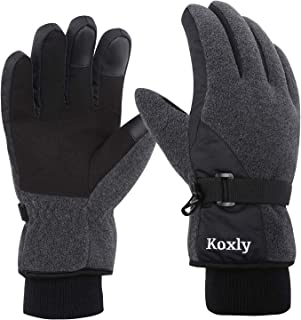 Sponsored Ad - Koxly Winter Gloves Waterproof Windproof 3M Insulated Gloves 3 Fingers Dual-layer Touchscreen Gloves for Me...