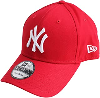 4061d5bd8 New Era Mens 9FORTY Essential New York Yankees Cap - Red