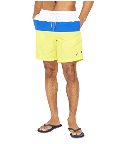 Nautica Color Block Swim Trunk (Yellow) Men