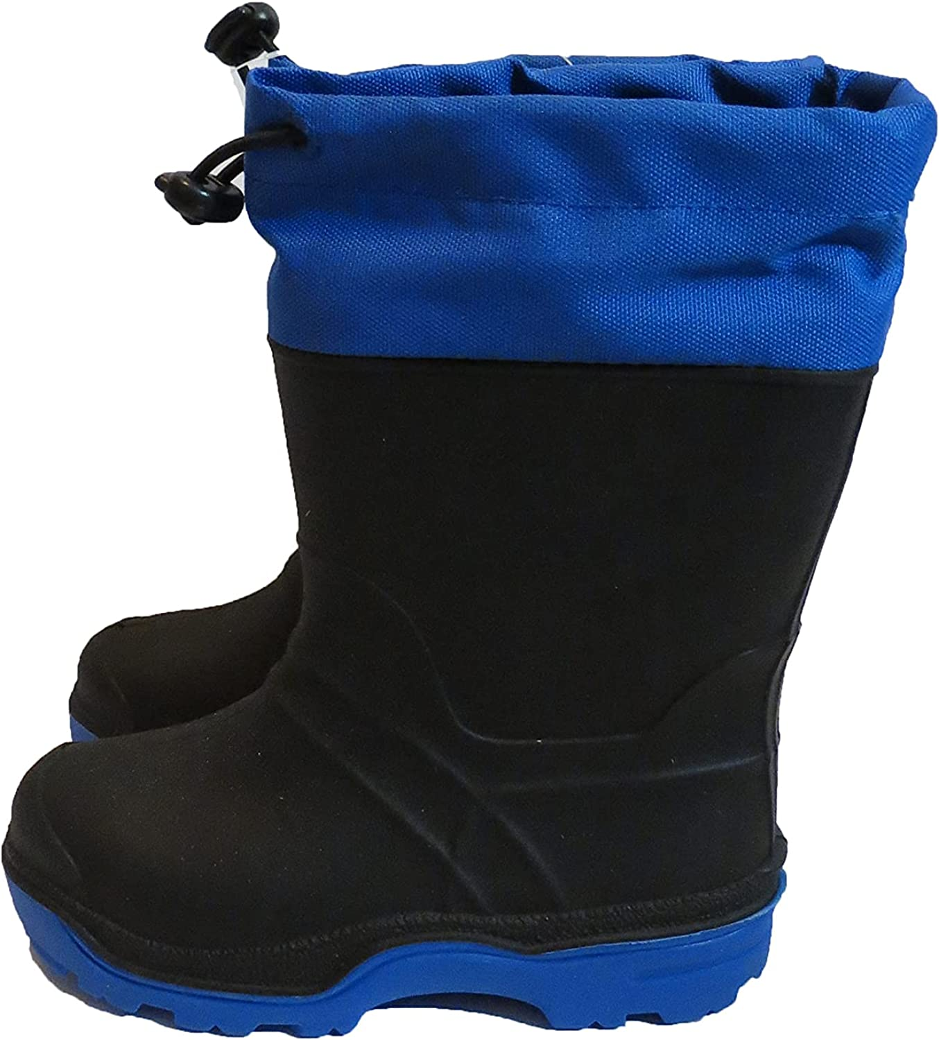 Wonder Nation Canada Made Removable Liners Waterproof Snow Boots Black Blue -22 degrees Little Boys size 9