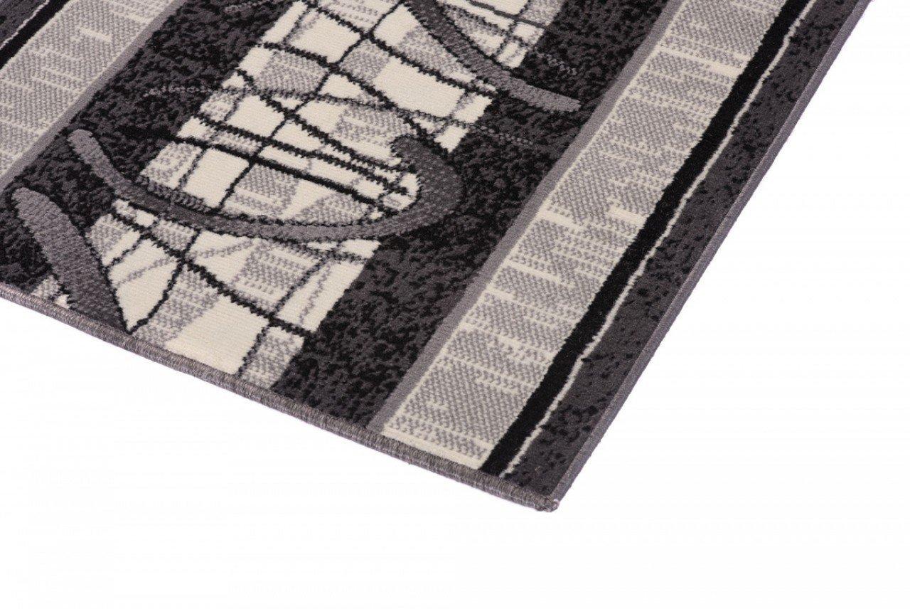 Thole Alfombra De Pasillo Moderna Patrones Geom/étricos Terciopelo de Cristal Tradicional Escaleras De Alfombrilla Antideslizante Hotel 0.6 cm de Espesor Dise/ño