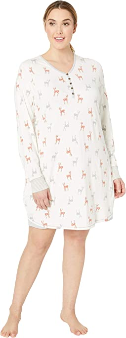 Plus Size Deer Night Shirt