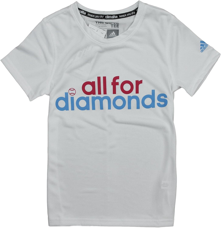 adidas Big Girls All for Diamonds Short Sleeve Climalite Tee
