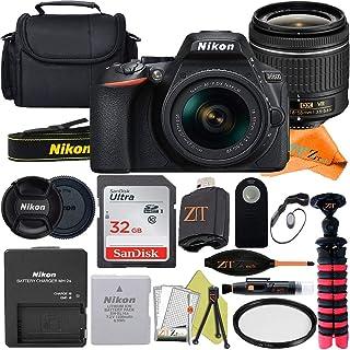 Nikon D5600 デジタル一眼レフカメラ 24.2MP NIKKOR 18-55mm f/3.5-5.6G VRレンズ SanDisk 32GB メモリーカード ケース 三脚 ZeeTech アクセサリーバンドル (ブラック)