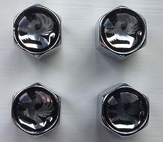 Tapa central para llantas de aleaci/ón 4 unidades SCOOBY DESIGNS NISSA NISMO GTR SKYLINE R34 color blanco y rojo
