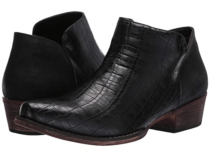 Roper  Sofia Caiman (Black Faux Caiman Leather) Womens Pull-on Boots