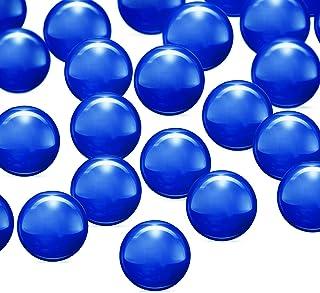 4 Pieces Sapphire Pearls Balls Insert Handmade Pearls Quartz Balls for Women DIY Jewelry Bracelets Pendants Making Supplie...