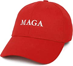 Armycrew Made in USA Donald Trump MAGA Embroidered Structured Cotton Ball Cap