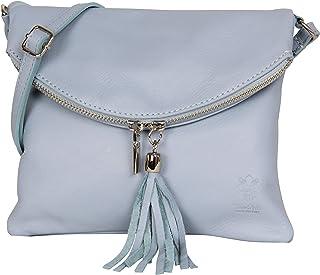 AMBRA Moda italiana bolso bandora de cuero suave embrague pequeñas bolsas de hombro de mujer NL610