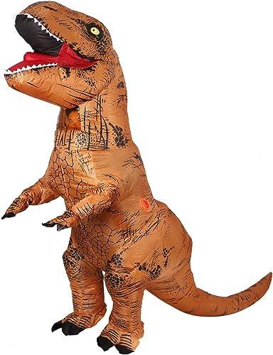 Aufblasbare Dinosaurier T-Rex Kostüm - Adult eine Größe Kostüm Halloween Outfit - mit Batterie betriebenen Ventilator