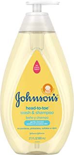 Johnson's Head-To-Toe Gentle Baby Wash & Shampoo, Tear-Free, Sulfate-Free & Hypoallergenic Bath Wash for Baby's Sensitive ...