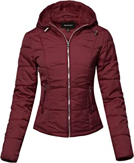 Women's Solid Casual Fur Hooded Thicken Quilted Outwear Jacket