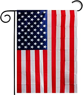 "Tiean Garden Flag American Flag White and Blue 1218"" Flax Seasonal Decorative Flag"