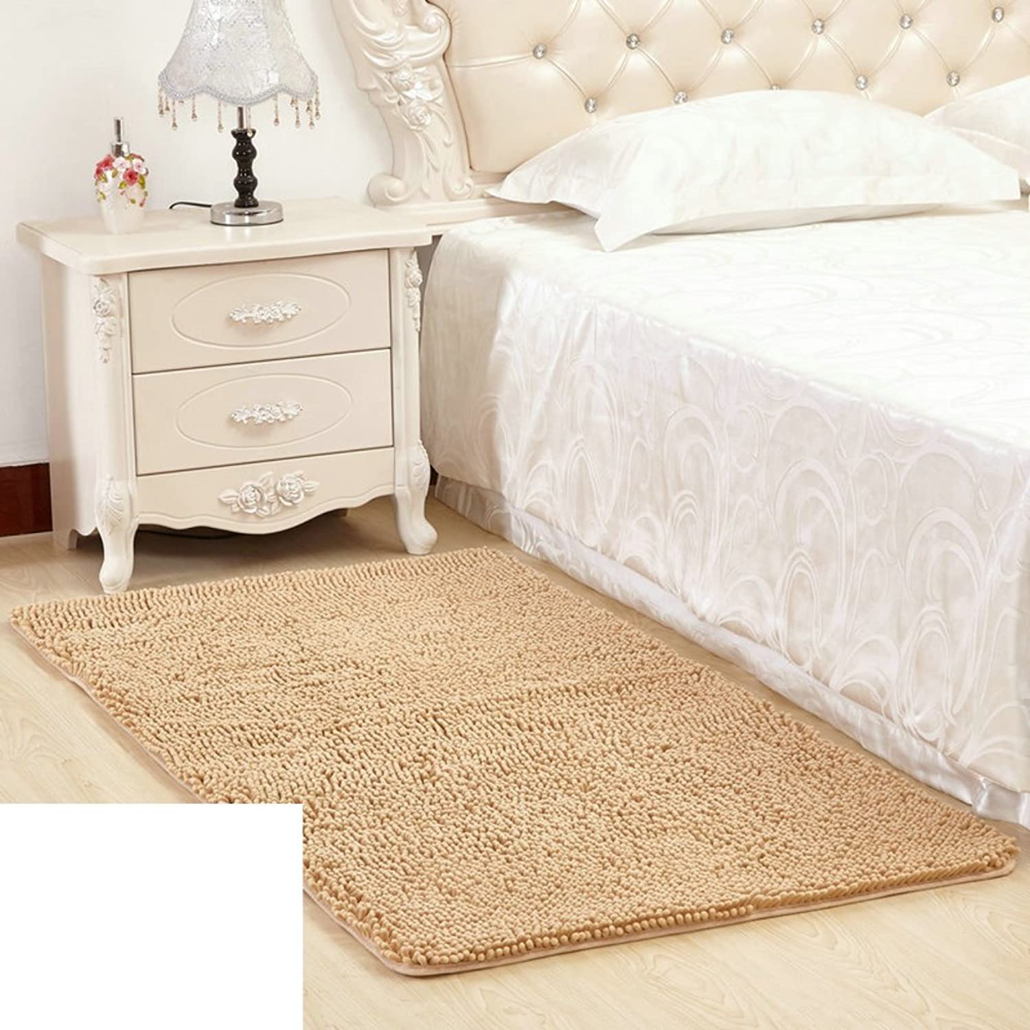 Chenille mat Bedroom Toilet Door mat Foot Pad doormats Bathroom Water-Absorbing Non-Slip mats mats at The Door-J 50x80cm(20x31inch)