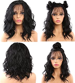 4271a0e8552 Helene Glueless Lace Front Wigs Short Bob Natural Wave Realistic Looking  Natural Synthetic Lace Front Wig