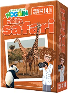 Professor Noggin's Wildlife Safari Trivia Card Game - an Educational Trivia Based Card Game for Kids - Trivia, True or Fal...