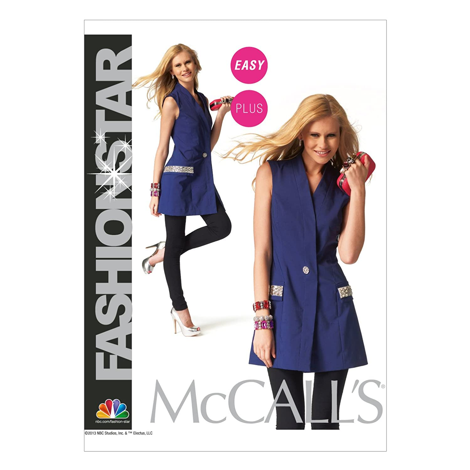 McCall Pattern Company M6847 Misses'/Women's Vest Sewing Template, Size B5