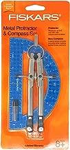 fiskars metal compass and protractor set