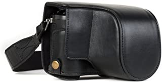 MegaGear Ever Ready Leder Kameratasche mit Trageriemen kompatibel mit Panasonic Lumix DMC GX80 (12 32mm)