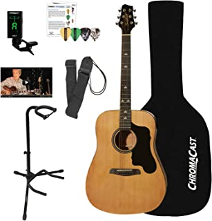 Sawtooth Acoustic Dreadnought Guitar with Case, Tuner, Stand, Strap, Picks & Online Lesson