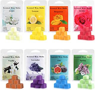 Perkisboby Scented Wax Melts, Soy Wax Cubes with Natural Essential Oil for Assorted Wax Warmer Cubes/Tarts - Rose, Fig, La...