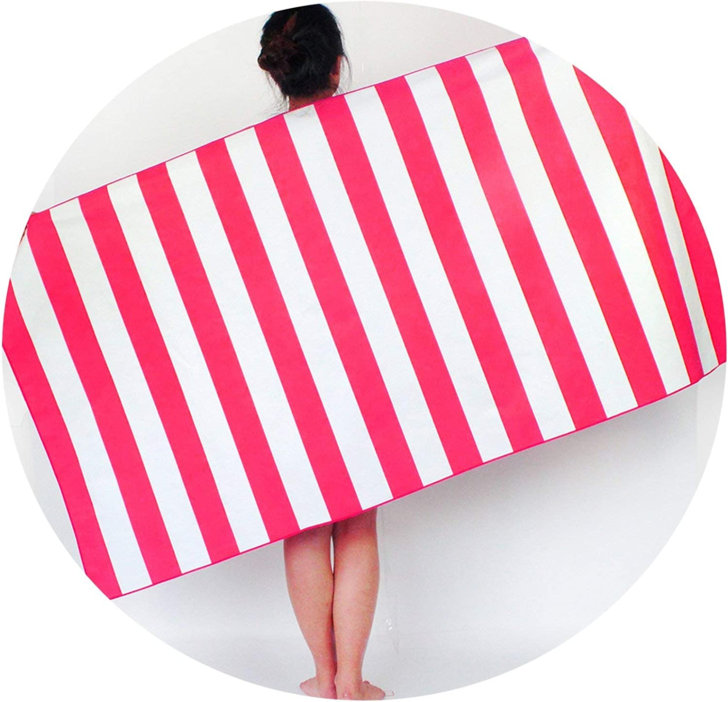 Microfiber Soft Bath Towel Fashion Quick Dry Stripe Beach Towel for Summer Beach Travel Swim Pool Camping Outdoors