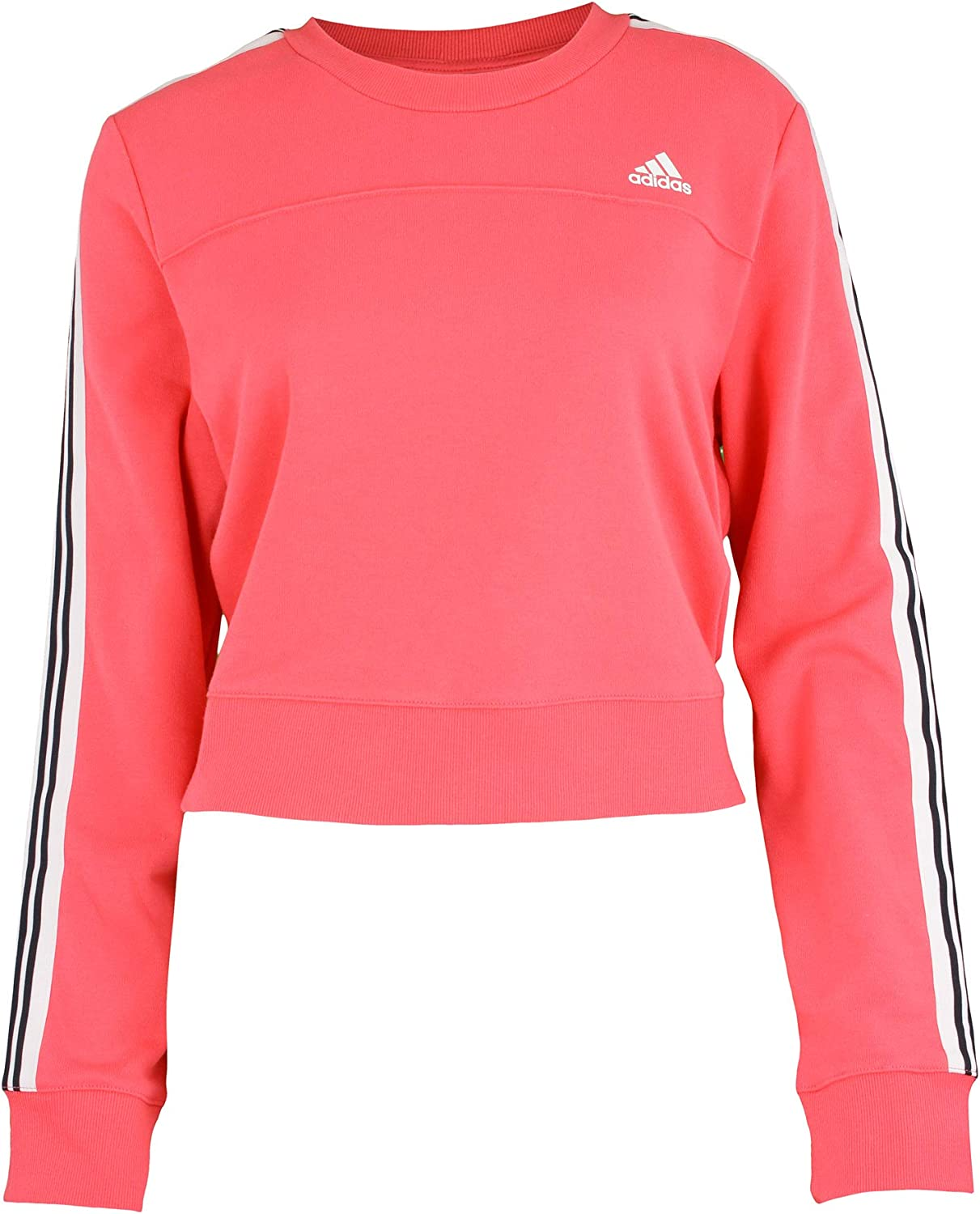 protesta Compra picnic  Amazon.com: adidas Women's Cho Crew Pullover Sweater, Pink: Clothing