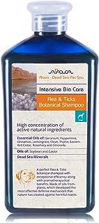Arava Flea & Tick Control Dog & Puppy Shampoo, Pet Parasite Repellence & Prevention, Safe for Babies, Gently Scented Botanical Dead Sea Formula, 100% Natural Ingredients. 13.5 fl oz (2 Variations)