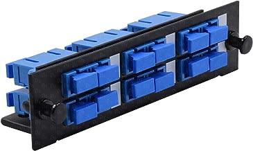 SC Fiber Adapter Panel LGX Footprint UPC, Loaded w/6 SC Duplex OS1/OS2 Singlemode Blue - Beyondtech Single Mode Series