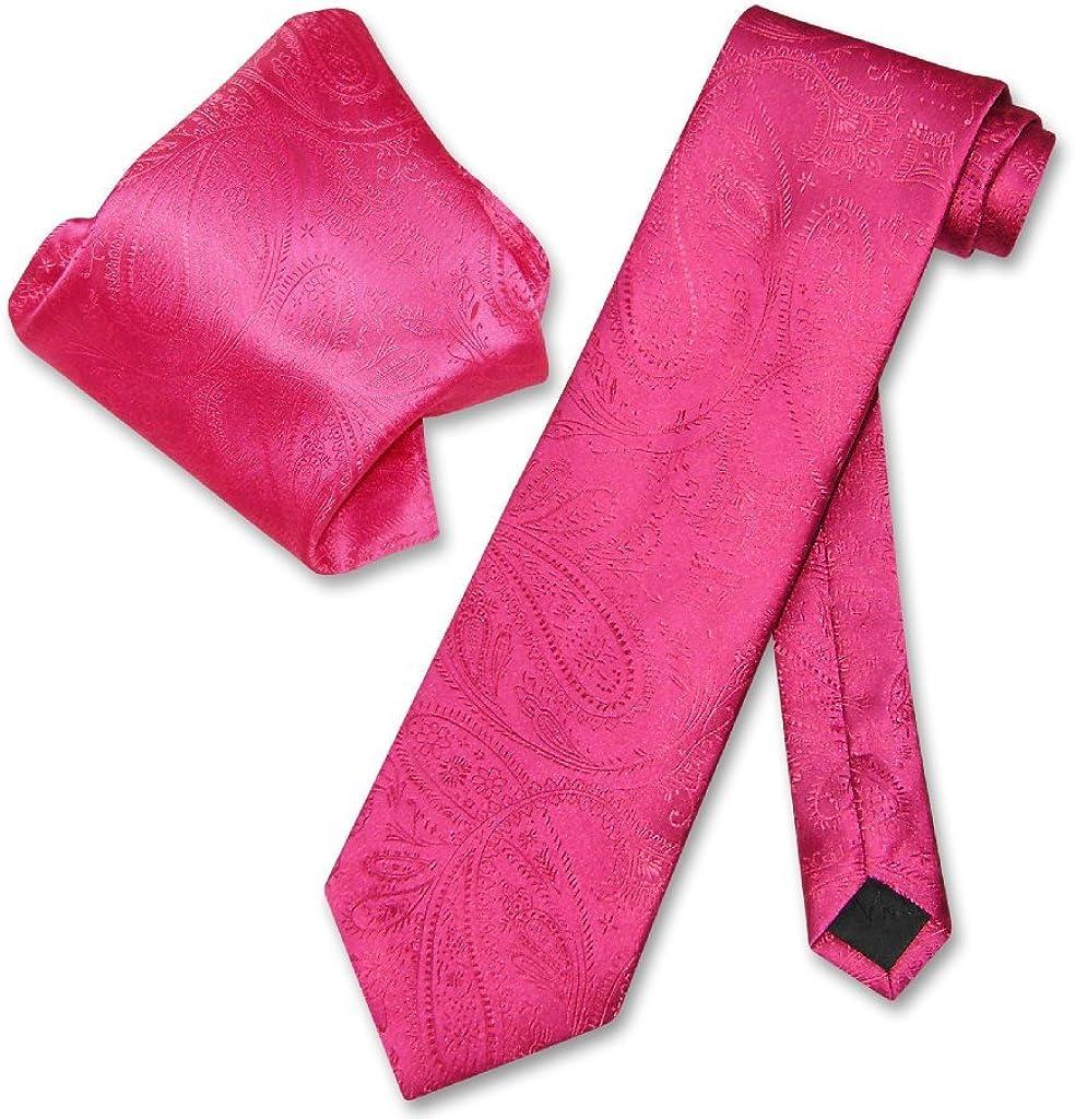 Vesuvio Napoli Hot A Ranking TOP7 surprise price is realized Pink Fuchsia M NeckTie PAISLEY Handkerchief