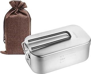 Neelac メスティン キャンプ 飯ごう 飯盒 バリ取り済 1から2合用 目盛り付き 収納袋付き 食品衛生法届出済