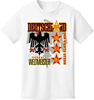 Germany World Soccer (Football) Champions The Fourth Star T-Shirt (YS-YL, AS-A2X)