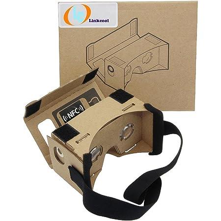 Linkcool Google Cardboard(グーグル・カードボード)3Dメガネ 3d Vr 簡易組み立て式 ベルト付き